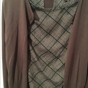 Sleeveless plaid top size small